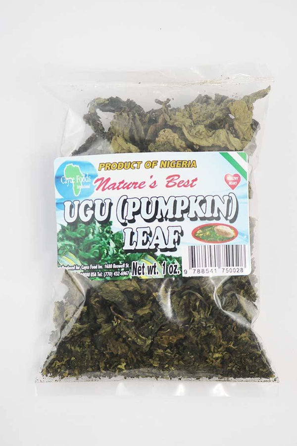 Pumpkin Leaf (Ugu) 1 OZ - Natures Best - Motherlands Finest
