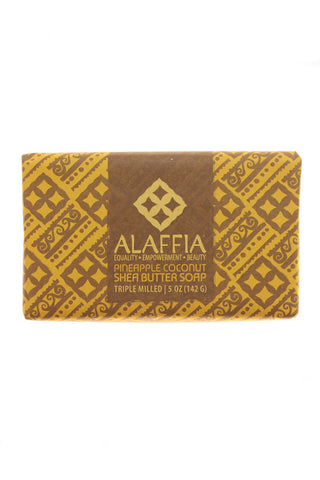 Pineapple Coconut Shea Butter Soap 5 oz - Alaffia - Motherlands Finest