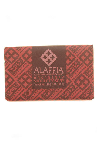 Raspberry Shea Butter Soap 5 OZ - Alaffia - Motherlands Finest