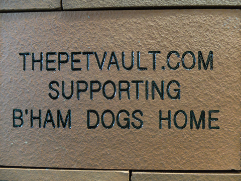 Birmingham Dogs Home Brick Showing The Pet Vault supporting B'ham dogs home