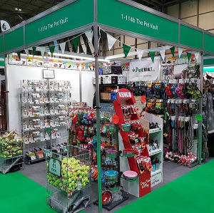 The Pet Vault stand at Crufts