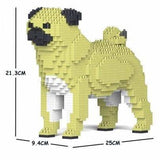 Apricot Yellow Pug Gift Ornament Model gift for Pug owner Small - by Jecka - The Pet Vault
