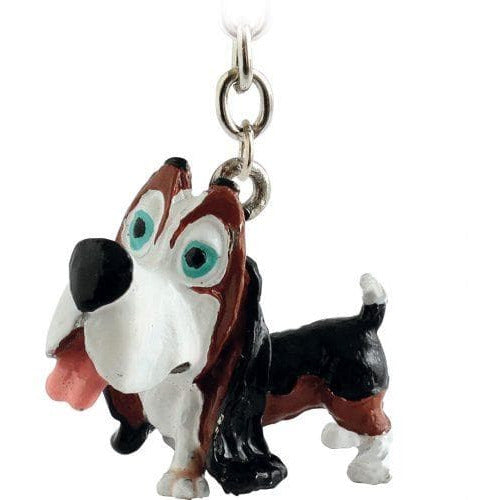 Basset Hound Gift Figurine Keyring - The Pet Vault