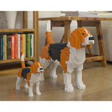 Beagle Ornament Gift Model by Jekca, Building block model lego style in two sizes - The Pet Vault