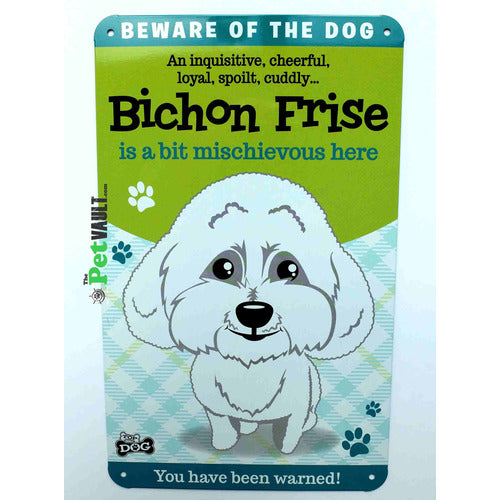 Bichon Frise Gift Sign - The Pet Vault