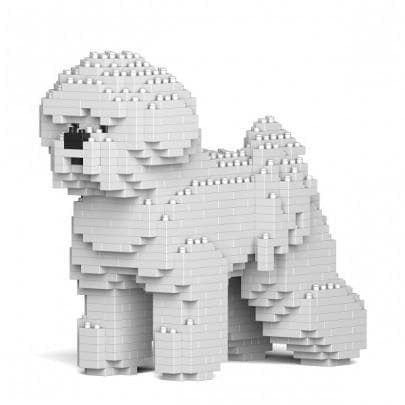Bichon Frise Ornament Gift Model by Jekca, Building block model - The Pet Vault