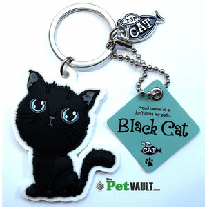 Black Cat (Crossed Path) Gift Keyring - The Pet Vault