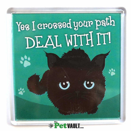 Black Cat (Crossed Path) Gift Magnet - The Pet Vault