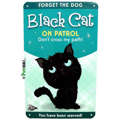 Black Cat (Crossed Path) Gift Sign - The Pet Vault