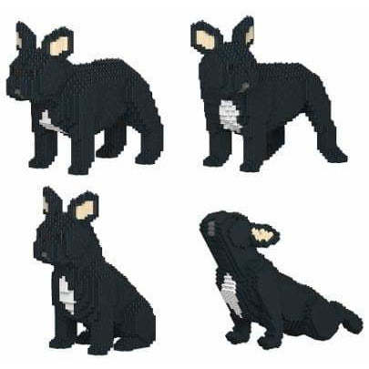 Black French Bulldog Ornament Gift Model by Jekca, Building block model Gift four poses - The Pet Vault