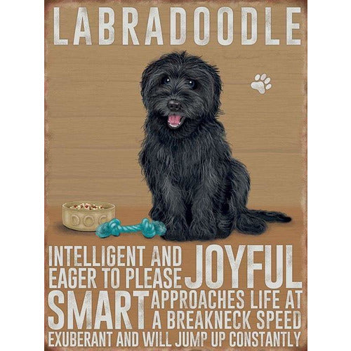 Black Labradoodle Magnet Gift - The Pet Vault