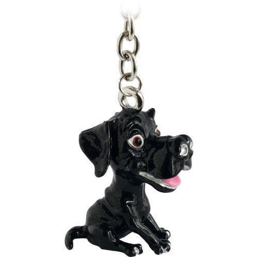 Black Labrador Gift Figurine Keyring - The Pet Vault