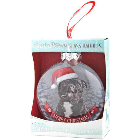 Staffy Staffie Christmas Tree Decoration//Ornament Bauble Dog Gift//Present