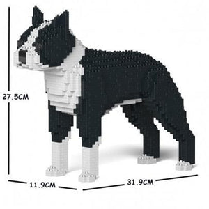 Boston Terrier Ornament Gift Model by Jekca, Building block model lego style in two Colours- The Pet Vault