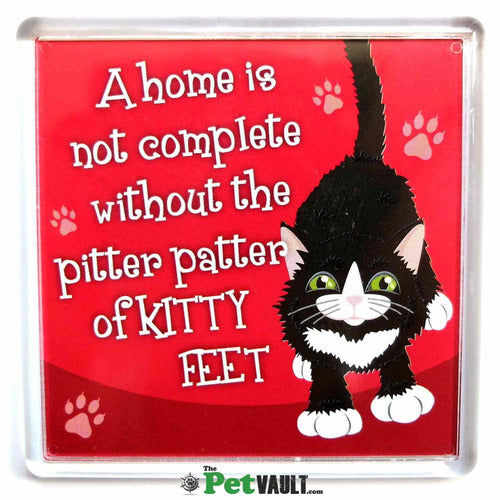 Black and White Cat Gift Magnet - The Pet Vault
