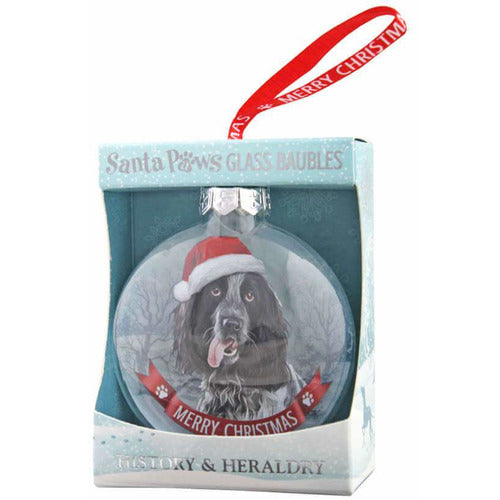Black and White Cocker Spaniel Gift Bauble for Christmas - The Pet Vault