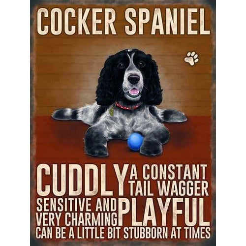 Black and White Cocker Spaniel Magnet Gift - The Pet Vault