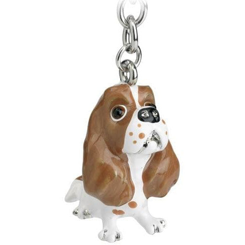 Blenheim Cavalier King Charles Gift Figurine Keyring - The Pet Vault