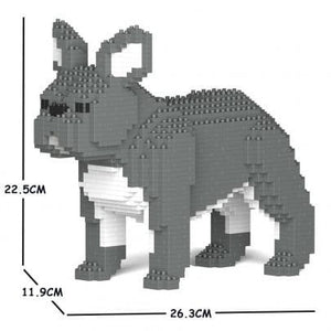 Blue,Grey French Bulldog Ornament Gift Model by Jekca, Building block model Gift four poses - The Pet Vault
