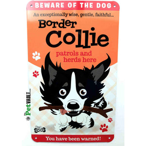 Border Collie Gift Sign - The Pet Vault