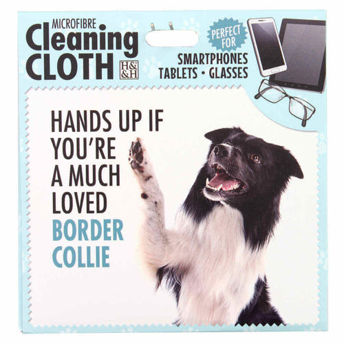 Border Collie Gift Phone, Screen or Glasses Cleaning microfibre cloth - The Pet Vault