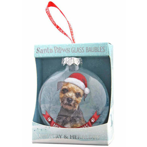 Border Terrier Gift Bauble for Christmas - The Pet Vault