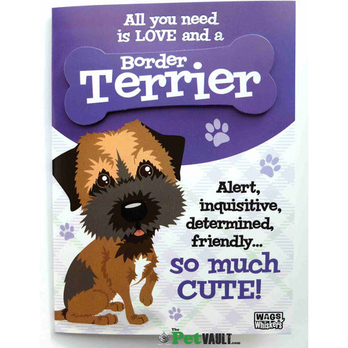 Border Terrier Gift Greeting Card - The Pet Vault