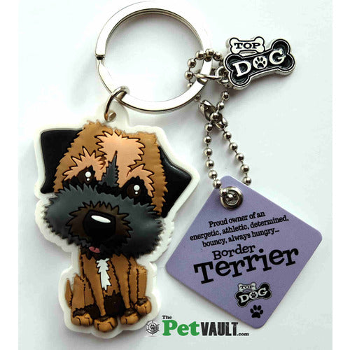 Border Terrier Gift Keyring - The Pet Vault