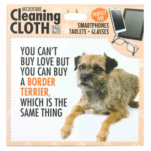 Border Terrier Gift Screen, phone or Glasses cleaning microfibre cloth - The Pet Vault