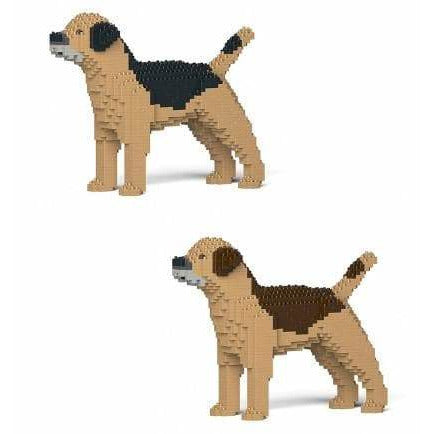 Border Terrier Ornament Gift Model by Jekca, Building block model lego style in two colours - The Pet Vault