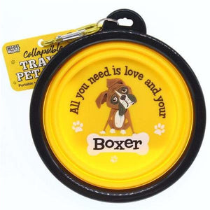 Boxer Dog Collapsible Travel Dog Bowl Gift - The Pet Vault