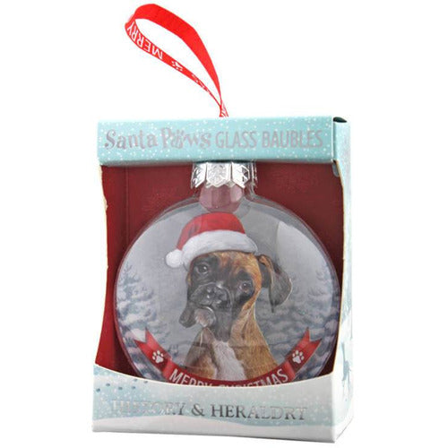 Boxer Dog Gift Bauble for Christmas - The Pet Vault