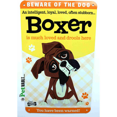 Boxer Dog Gift Sign - The Pet Vault