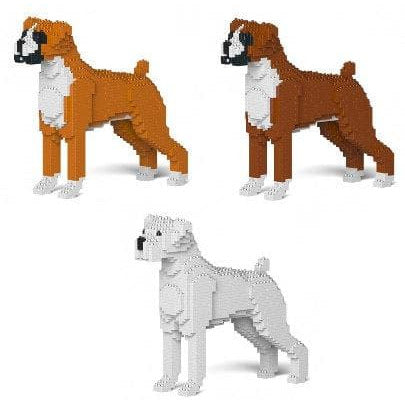 Boxer Dog Ornament Gift Model by Jekca, Building block model lego style in Three colours - The Pet Vault