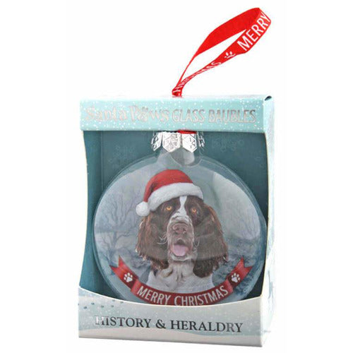 Brown Springer Spaniel Gift Bauble for Christmas - The Pet Vault