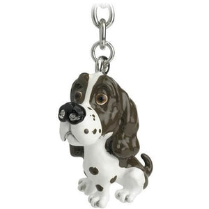 Brown Springer Spaniel Gift Figurine Keyring - The Pet Vault