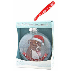 Brown Staffy Gift Bauble for Christmas - The Pet Vault