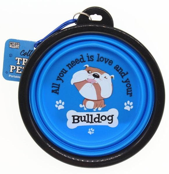 Bulldog Collapsible Travel Dog Bowl Gift - The Pet Vault