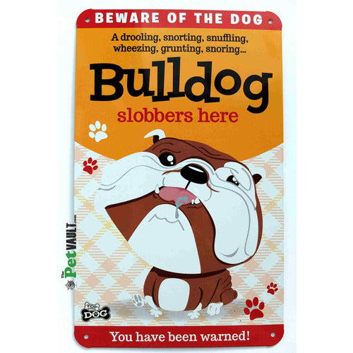 Bulldog Gift Sign - The Pet Vault