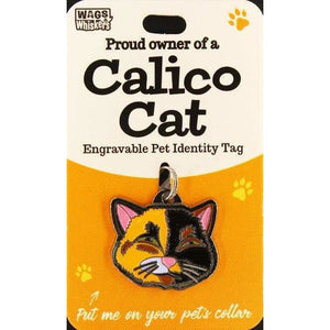 Calico Cat ID Tag Charm Gift for Calico Cat Lovers - The Pet Vault