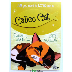 Calico Cat (Sleeping) Gift Greeting Card - The Pet Vault
