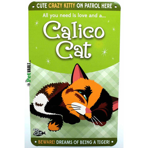 Calico Cat (Sleeping) Gift Sign - The Pet Vault