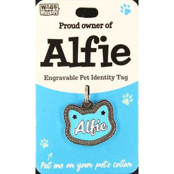 Cat Named Alfie Cat Shape Cat ID Tag Collar Charm