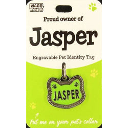 Cat Named Jasper Cat Shaped ID Tag Collar Charm