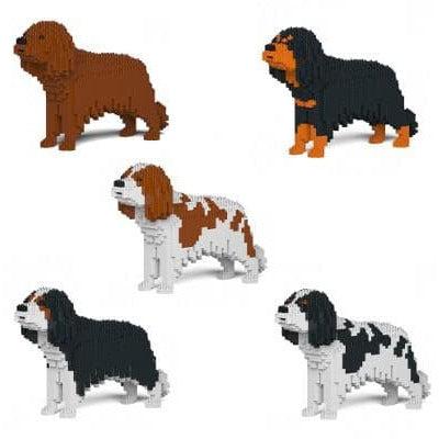 Cavalier King Charles Ornament Gift Model by Jekca, Building block model lego style - The Pet Vault