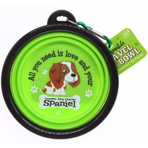 Cavalier King Charles Spaniel Collapsible Travel Dog Bowl Gift - The Pet Vault