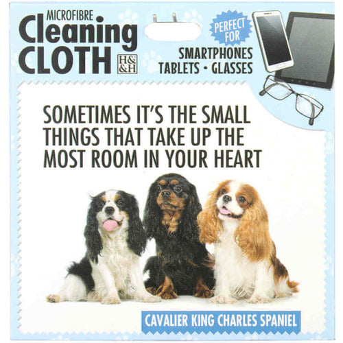 Cavalier King Charles Gift Glasses cleaning microfibre cloth - The Pet Vault