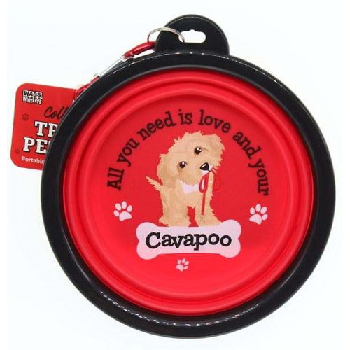 Cavapoo Collapsible Travel Dog Bowl Gift - The Pet Vault