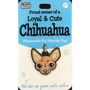 Chihuahua Dog ID Tag Charm Gift for Chihuahua Lovers by Wags and Whiskers - The Pet Vault