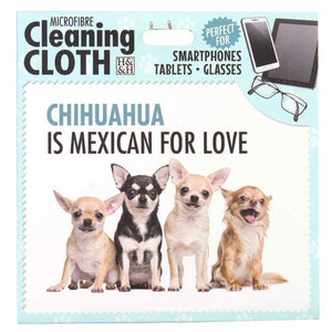 Chihuahua gift phone, screen and Glasses cleaning microfibre cloth - The Pet Vault